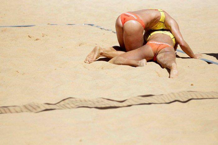 Прикольные картинки в пляжном воллейболе