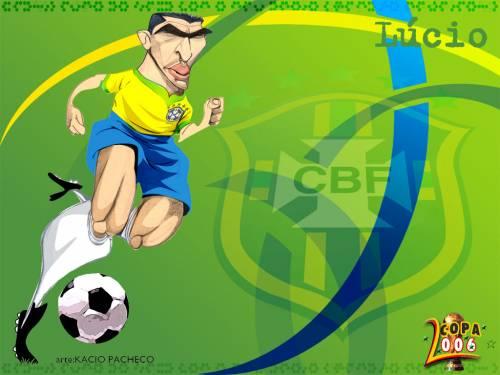 Каррикатуры на бразильских футболистов 2