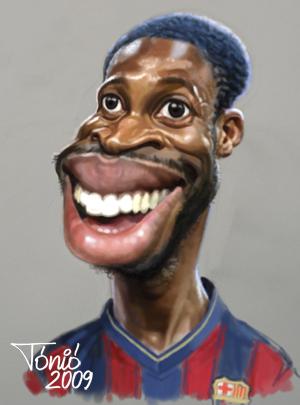 Каррикатуры на футболистов Барселоны 2