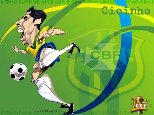 Каррикатуры на бразильских футболистов 1