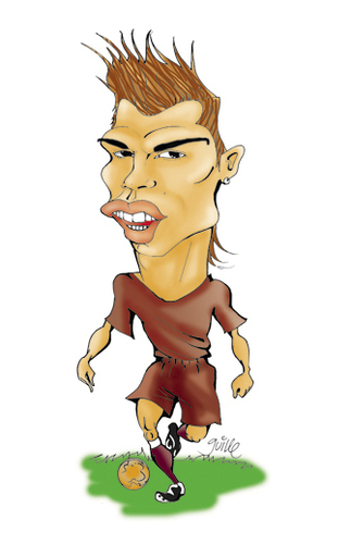 Карикатуры на различных футболистов 4