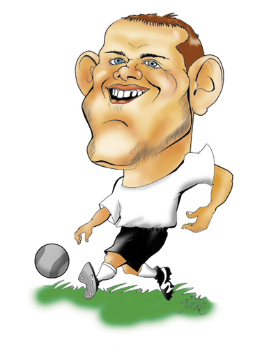 Карикатуры на различных футболистов 3