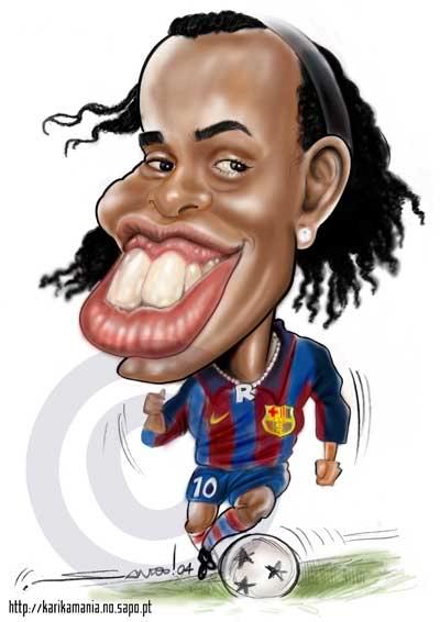 Карикатуры на различных футболистов 2