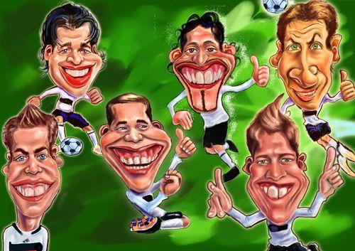 Карикатуры на различных футболистов 5