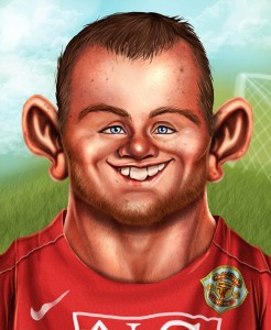 Карикатуры на различных футболистов 6
