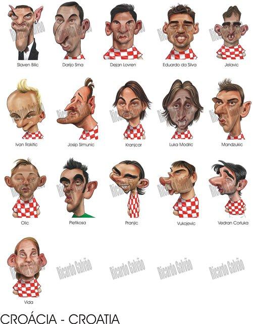Карикатуры Рикарду Галвао на участников Евро-2012