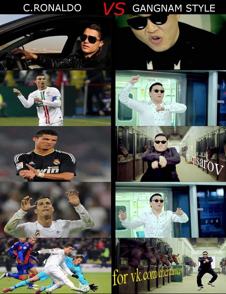 Футболисты в Gangnam Style